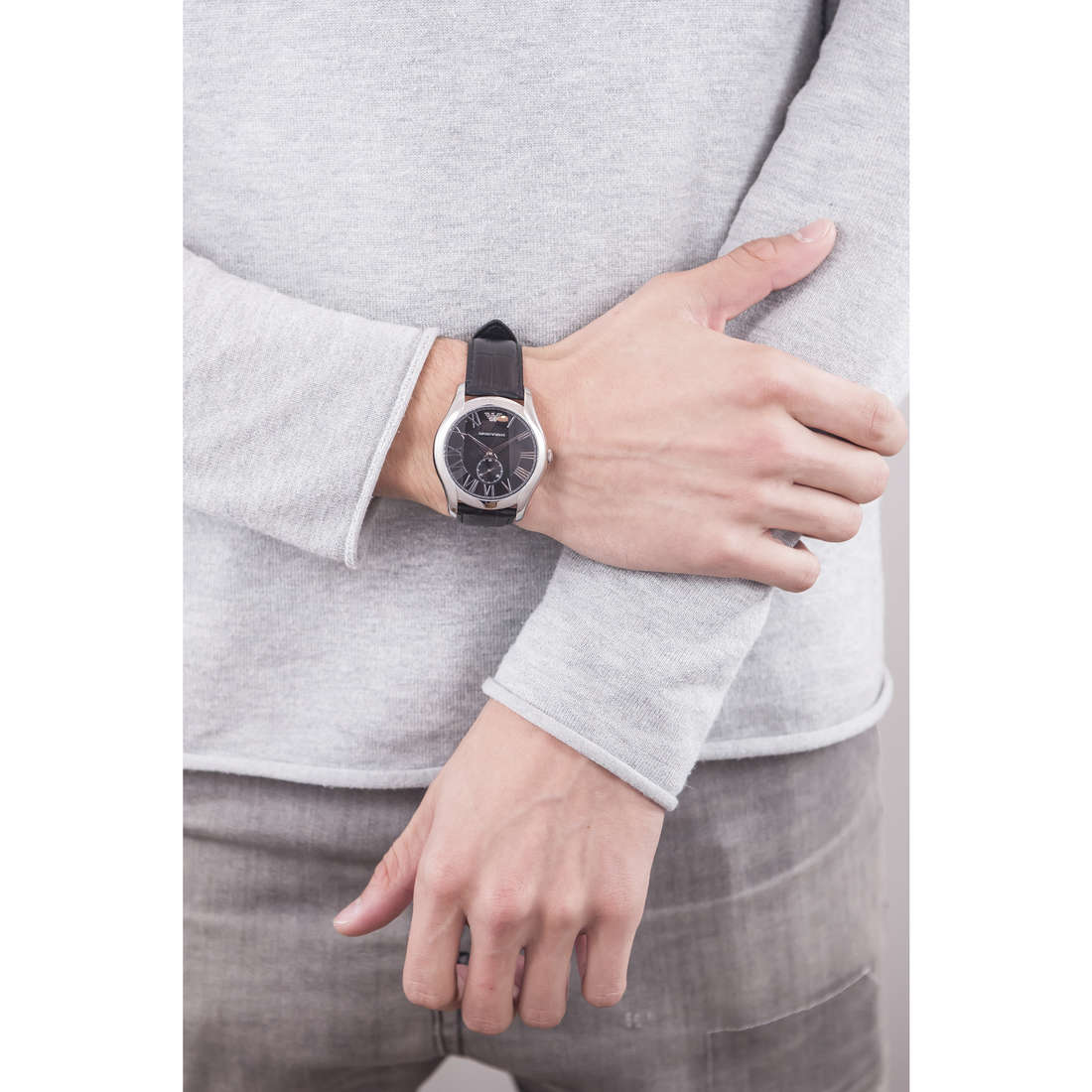 Emporio Armani only time Fall 2013 man AR1703 indosso