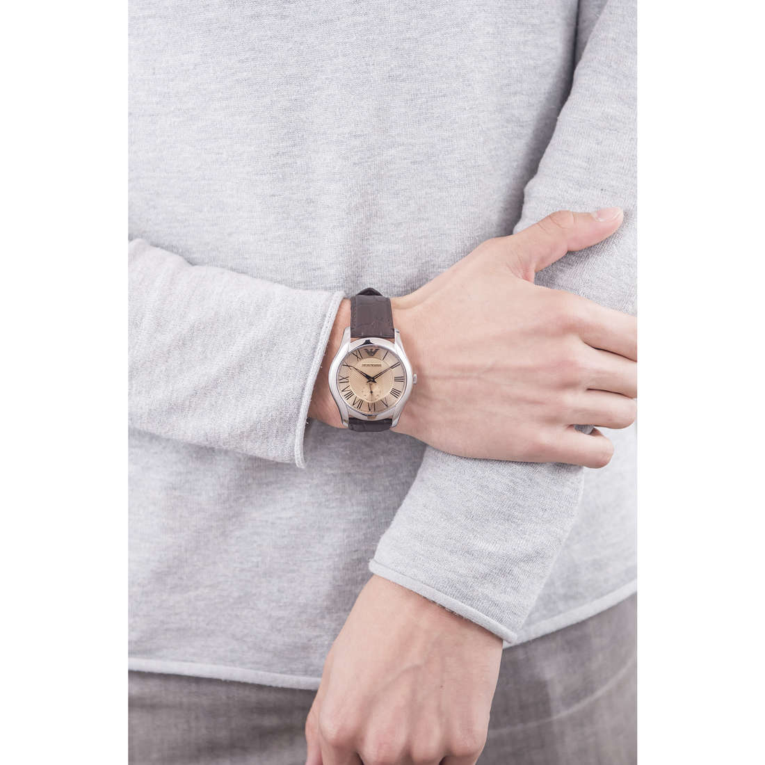 Emporio Armani only time Fall 2013 man AR1704 indosso
