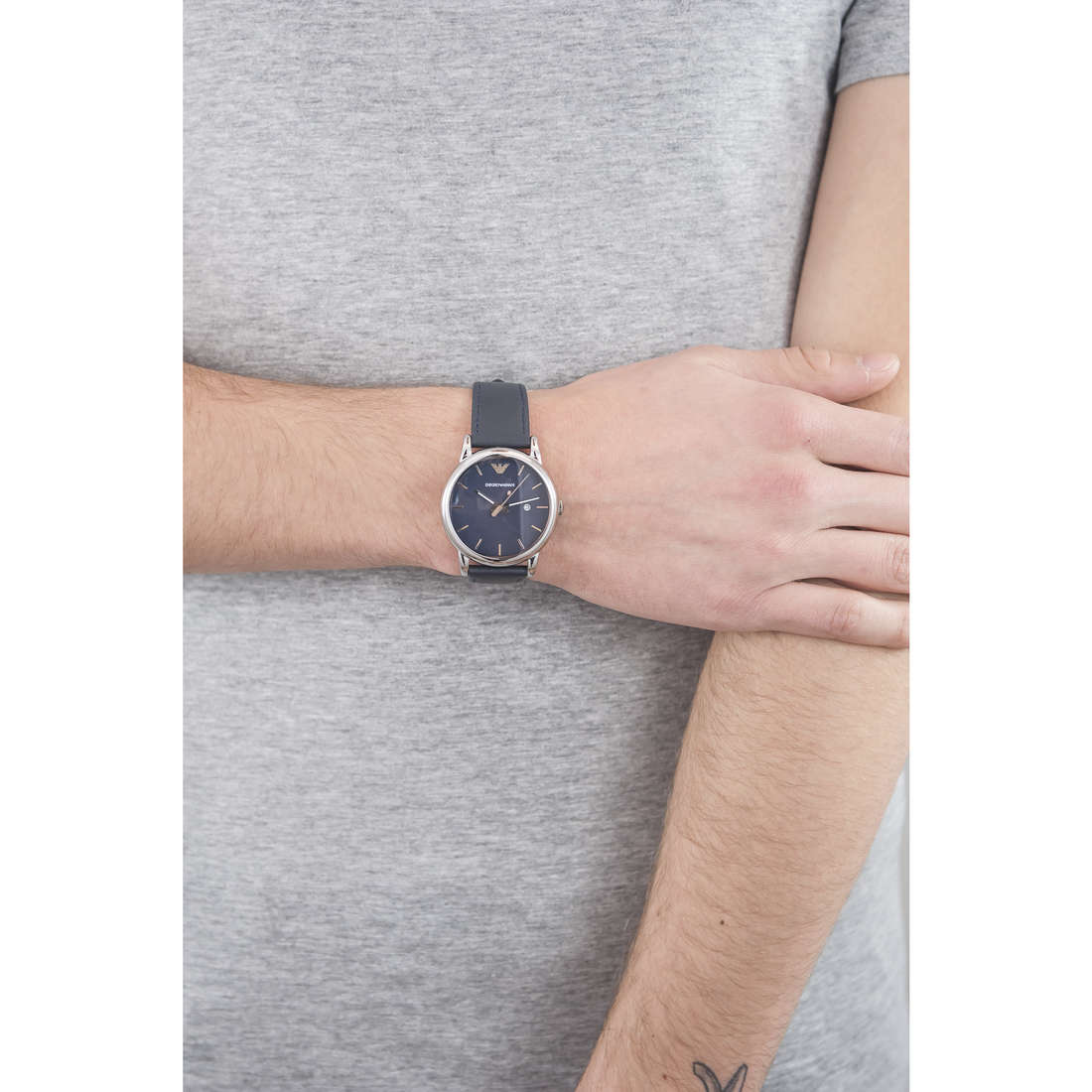Emporio Armani only time Fall 2013 man AR1731 indosso