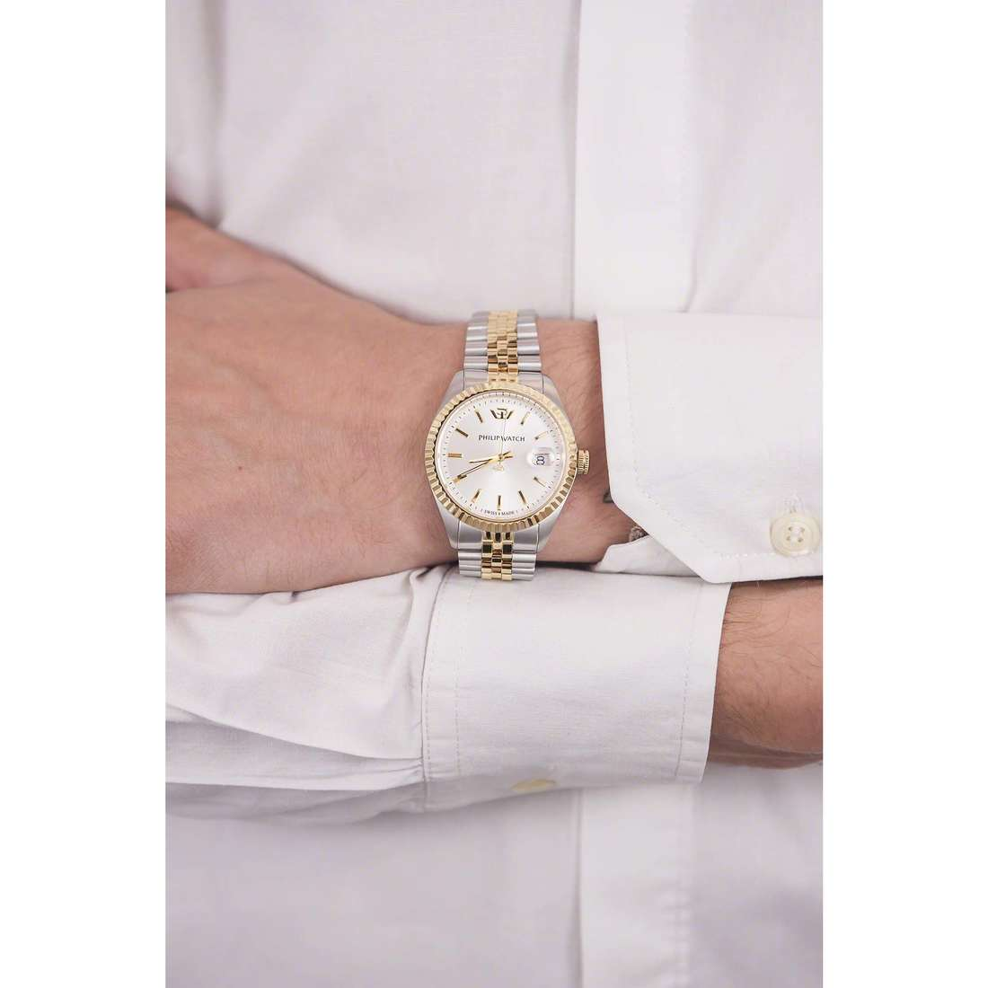 Philip Watch only time Caribe man R8253107010 indosso