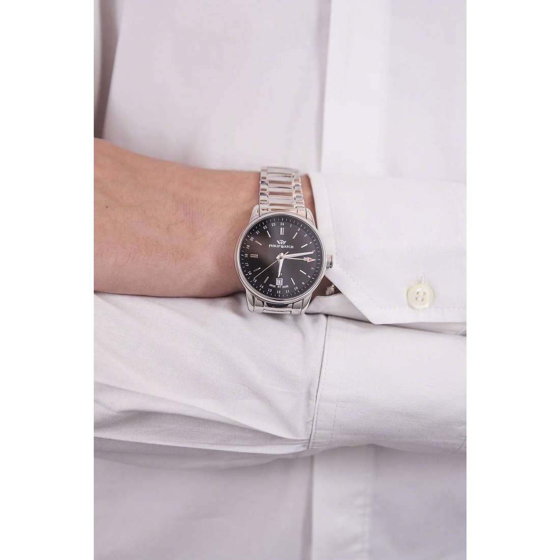 Philip Watch only time Kent man R8253178008 indosso
