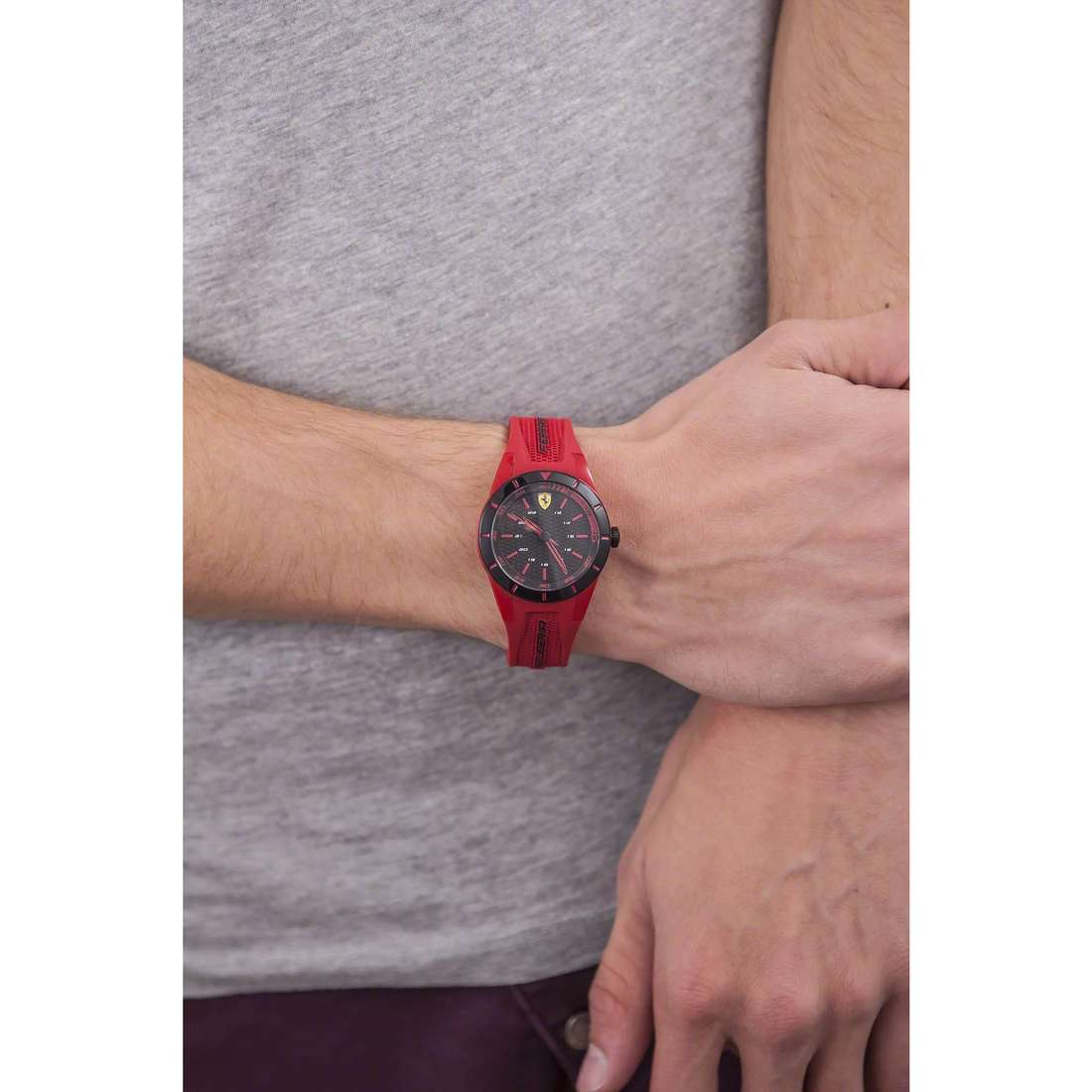 Scuderia Ferrari only time Red man FER0840005 indosso