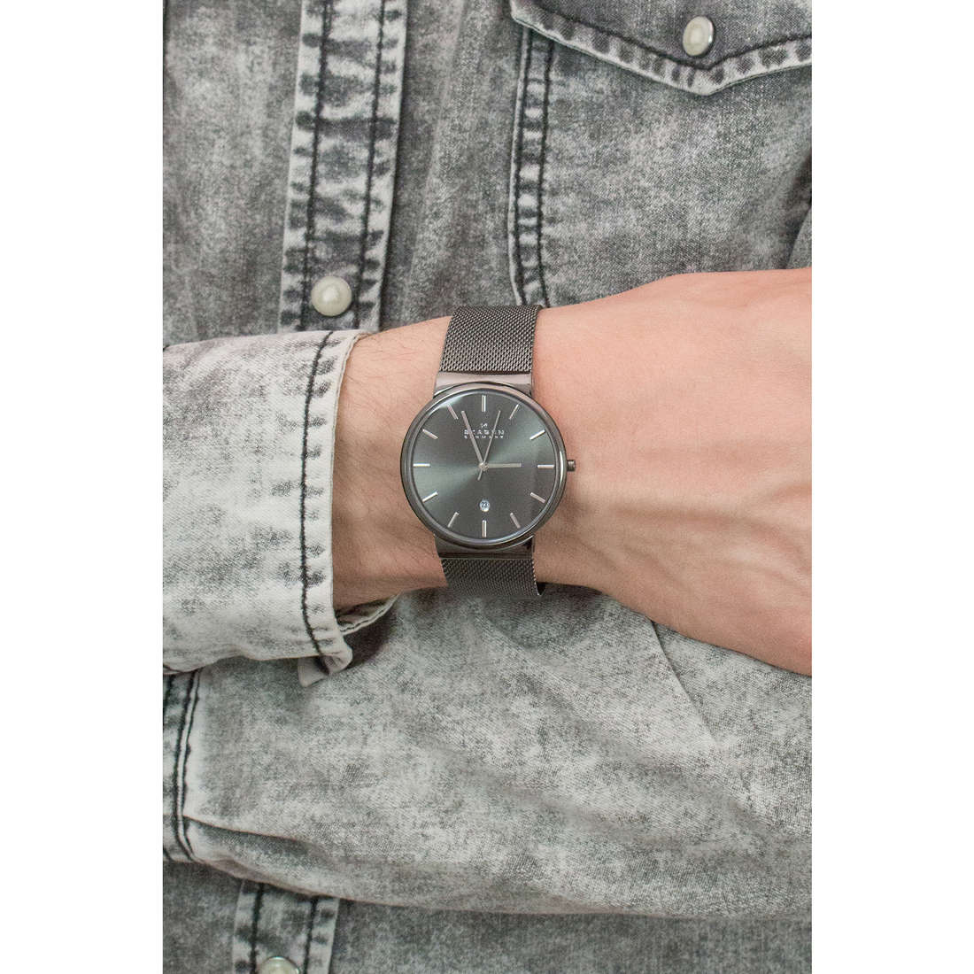 Skagen only time Ancher man SKW6108 indosso