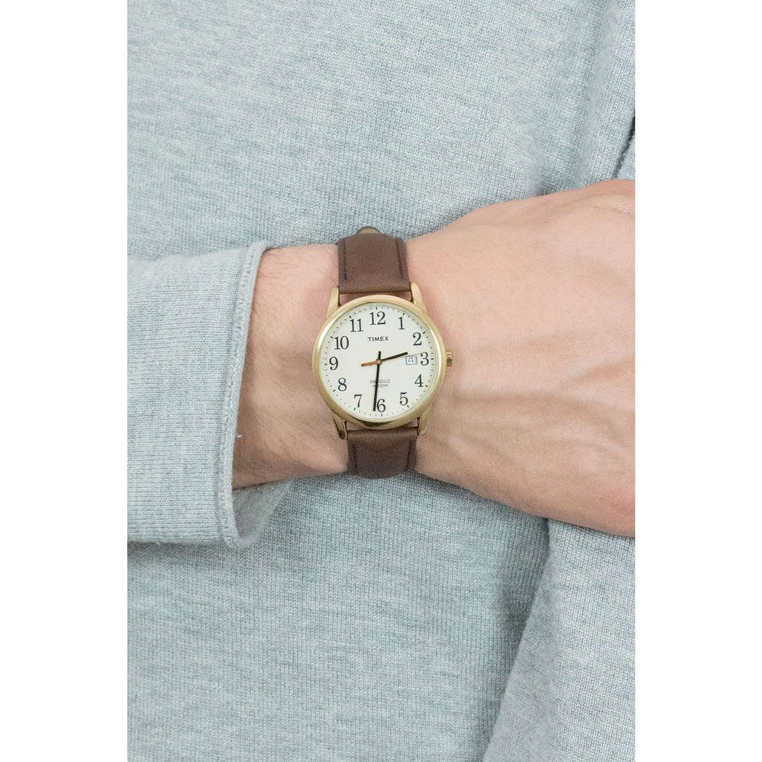 Timex only time Easy Reader man TW2P75800 photo wearing