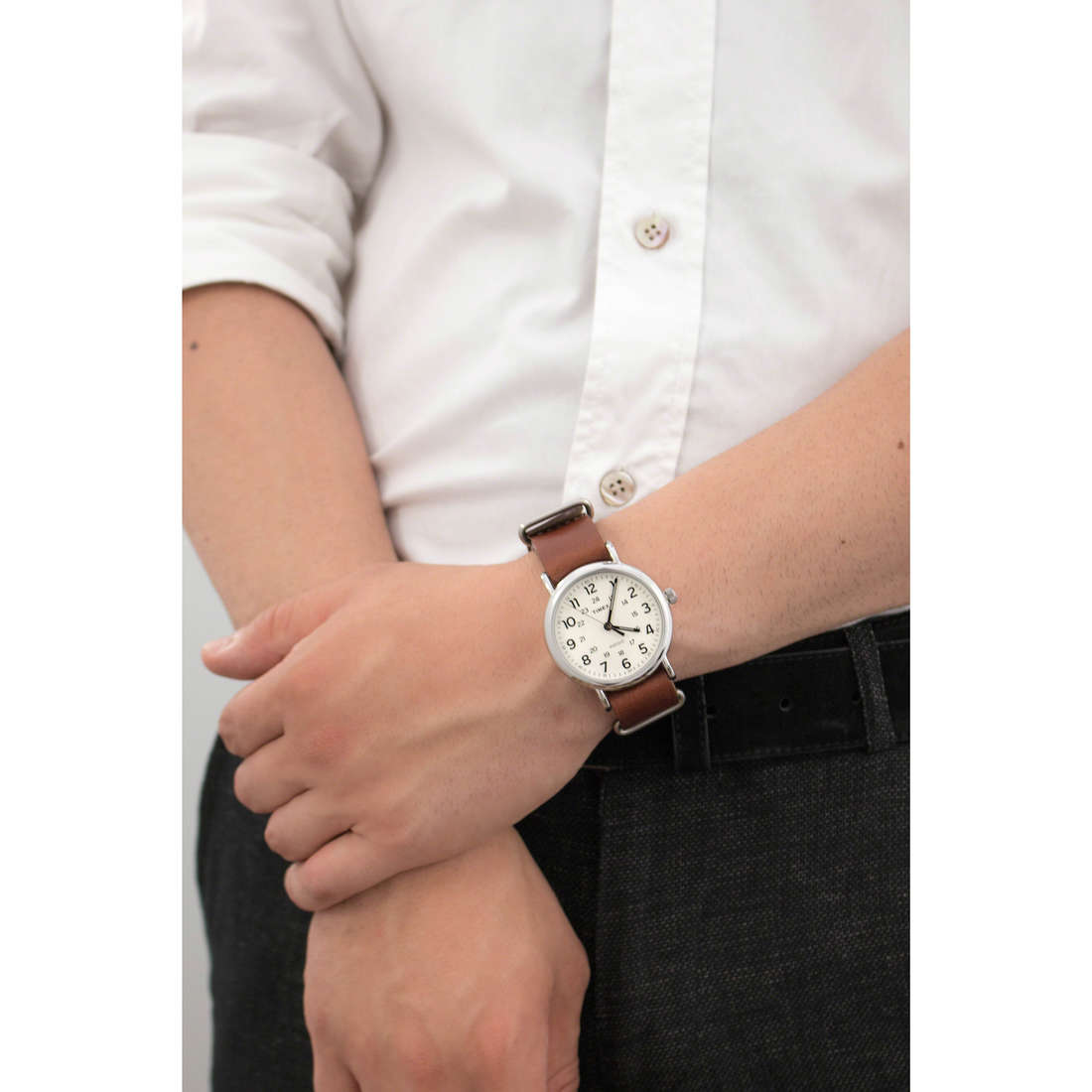 Timex only time Weekender man T2P495 indosso