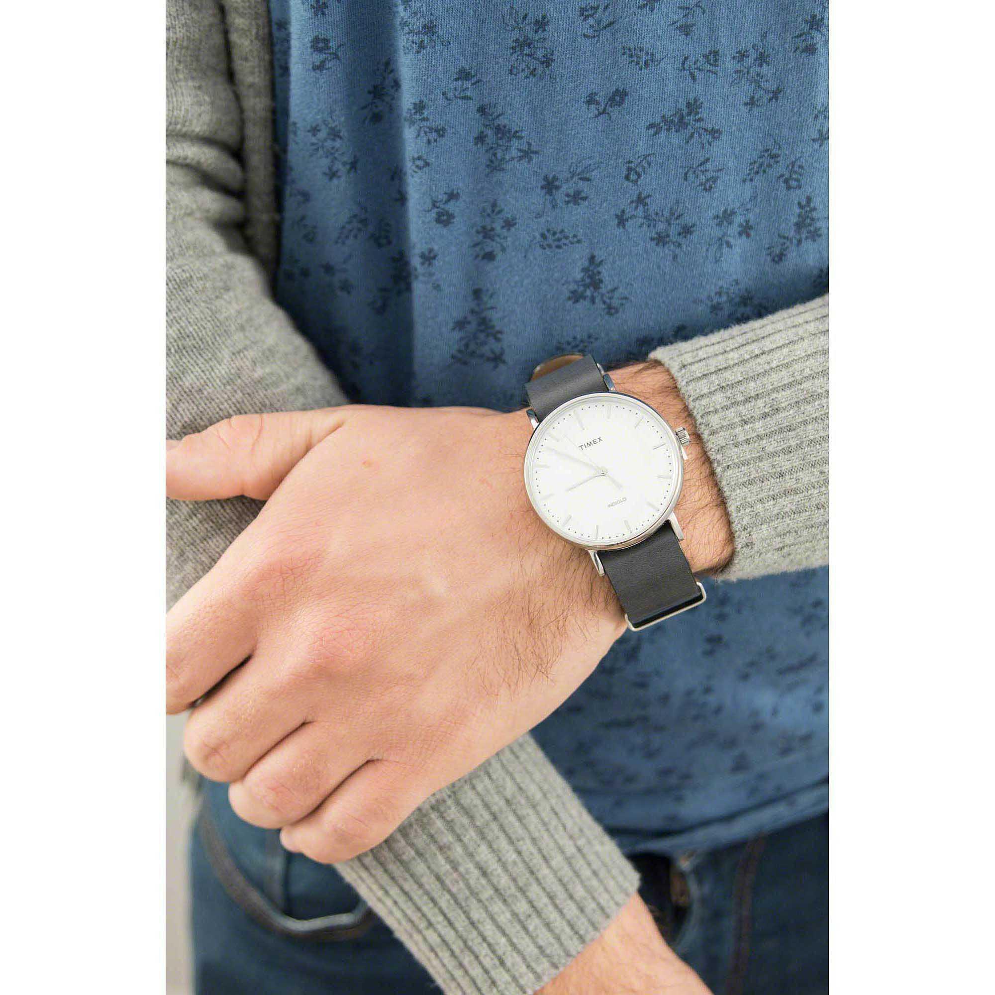 Đồng Hồ Unisex Dây Da Timex Weekender Fairfield TW2P91300