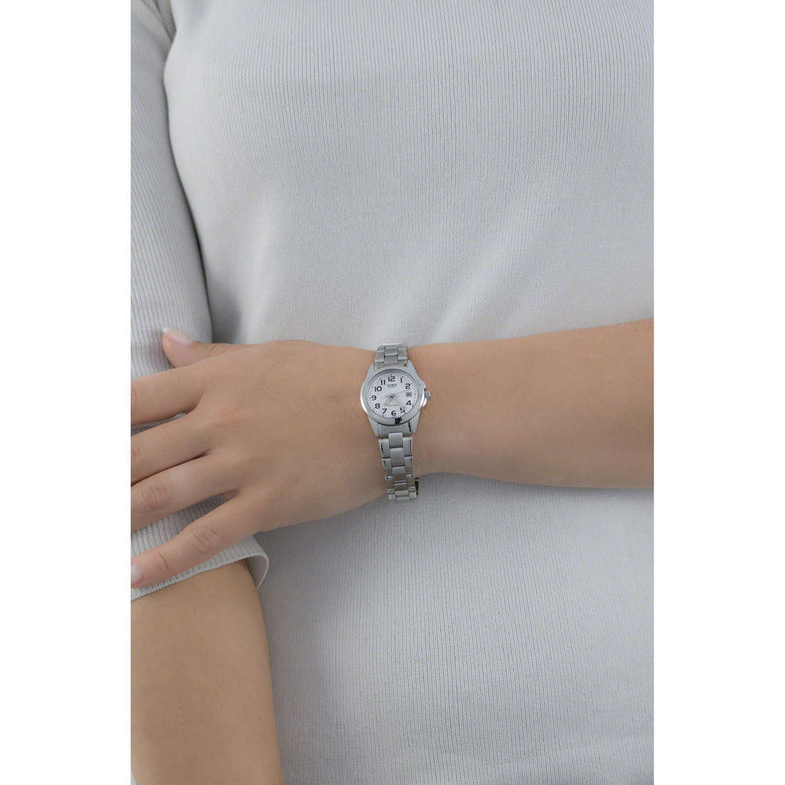 Casio only time Casio Collection woman LTP-1259PD-7BEF indosso