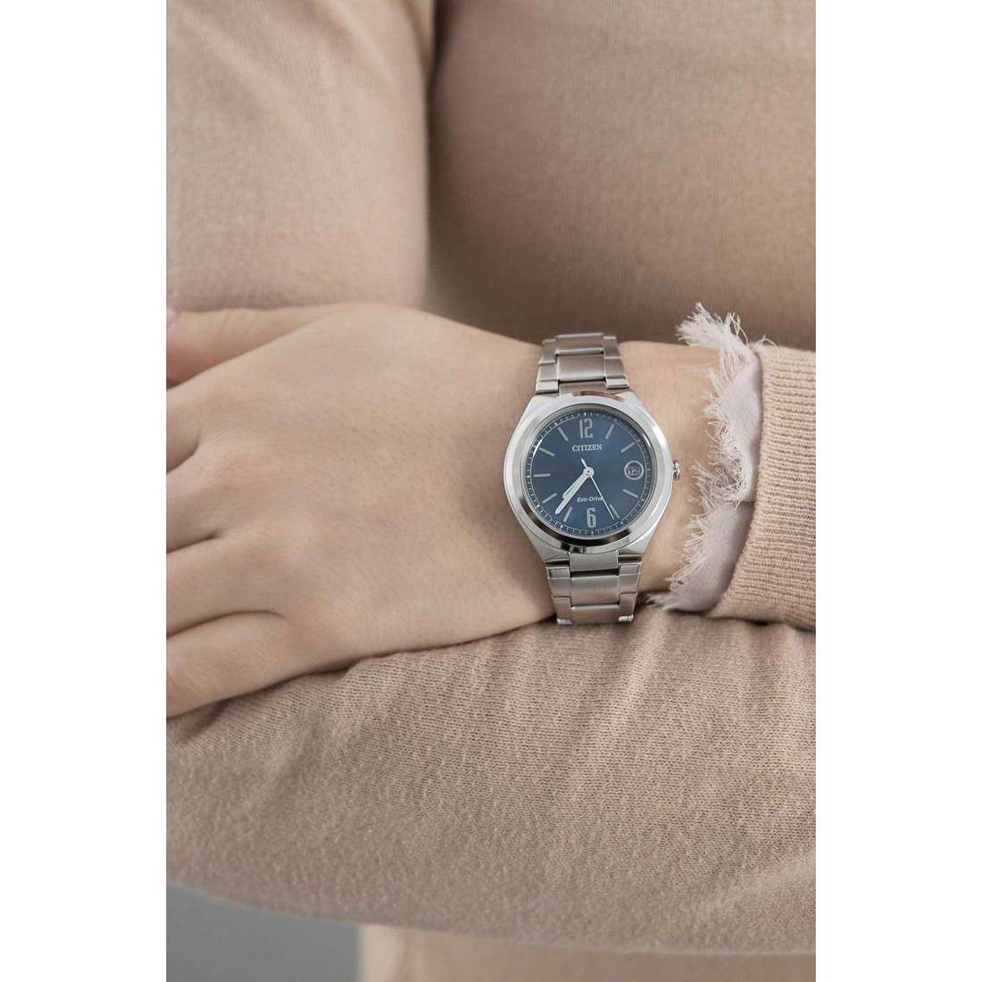 Citizen only time Eco-Drive woman FE6020-56L indosso
