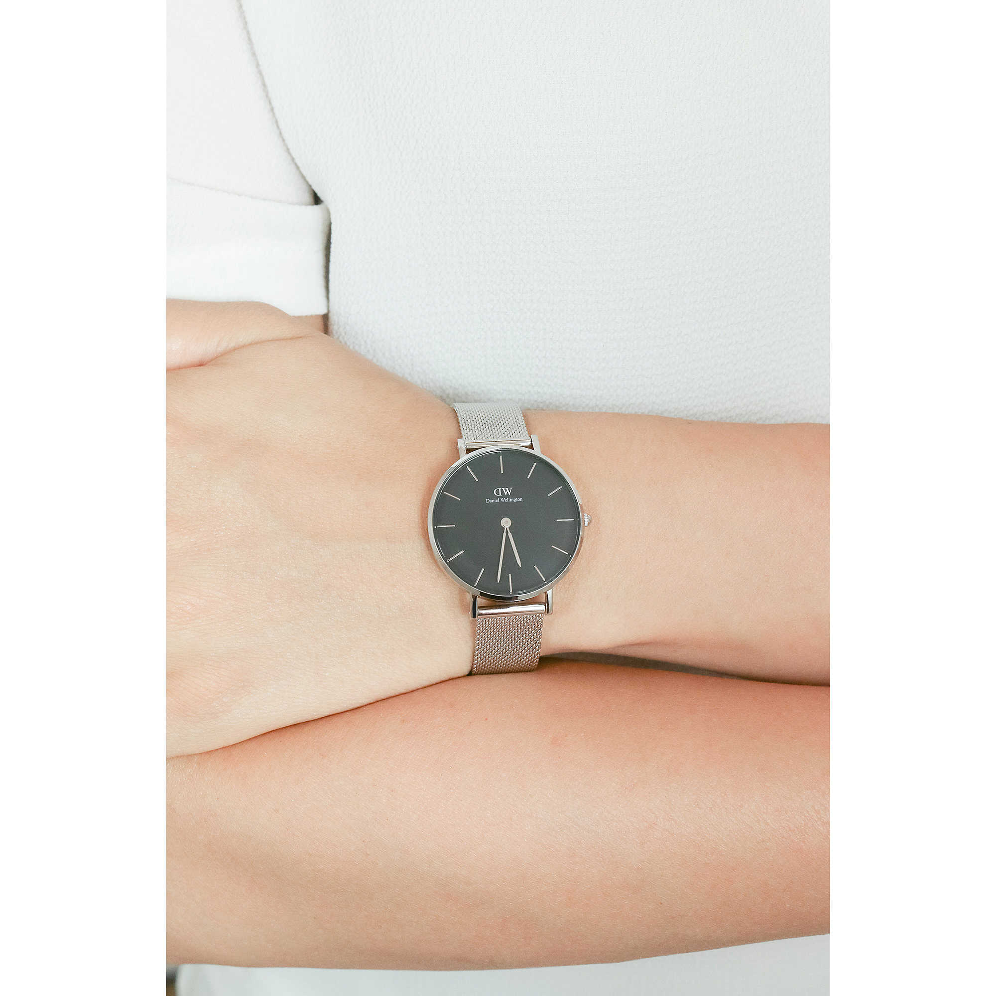 3a450bd1500f Daniel Wellington only time Classic Petite woman DW00100162 photo wearing.  zoom