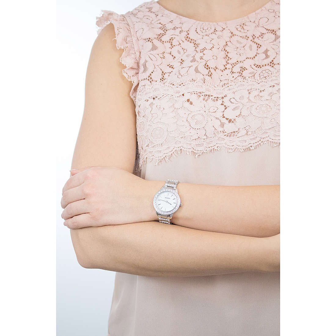 Fossil only time woman ES2362 photo wearing