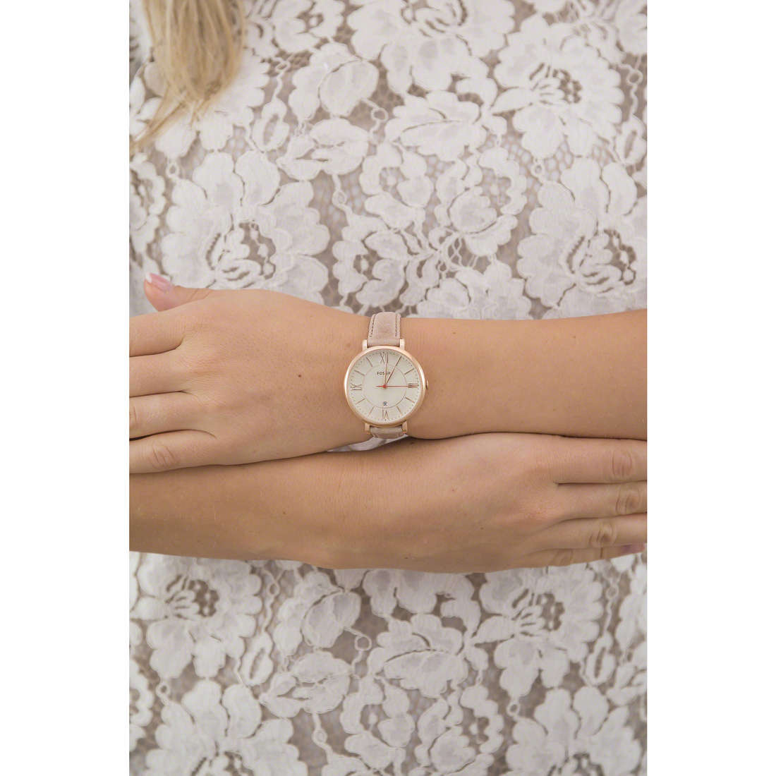 Fossil only time woman ES3487 photo wearing