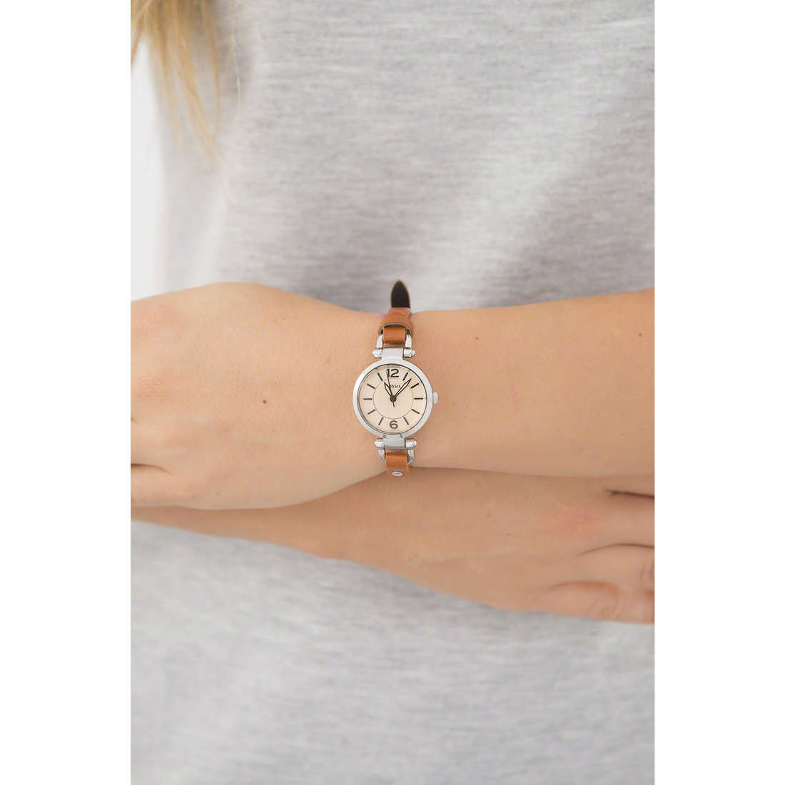 Fossil only time Georgia Mini woman ES4025 photo wearing
