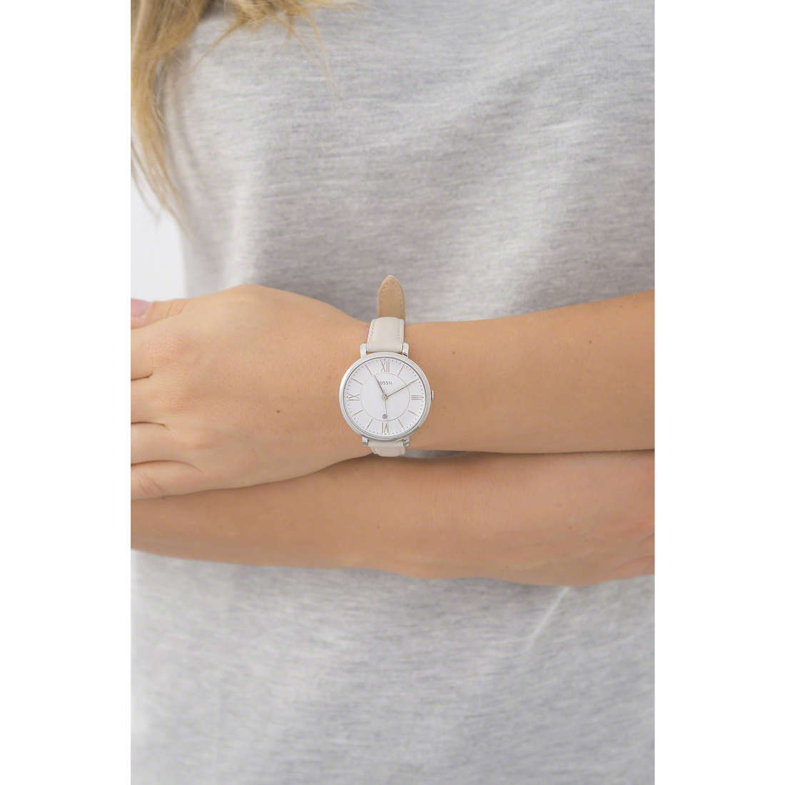 Fossil only time Jacqueline woman ES3793 indosso