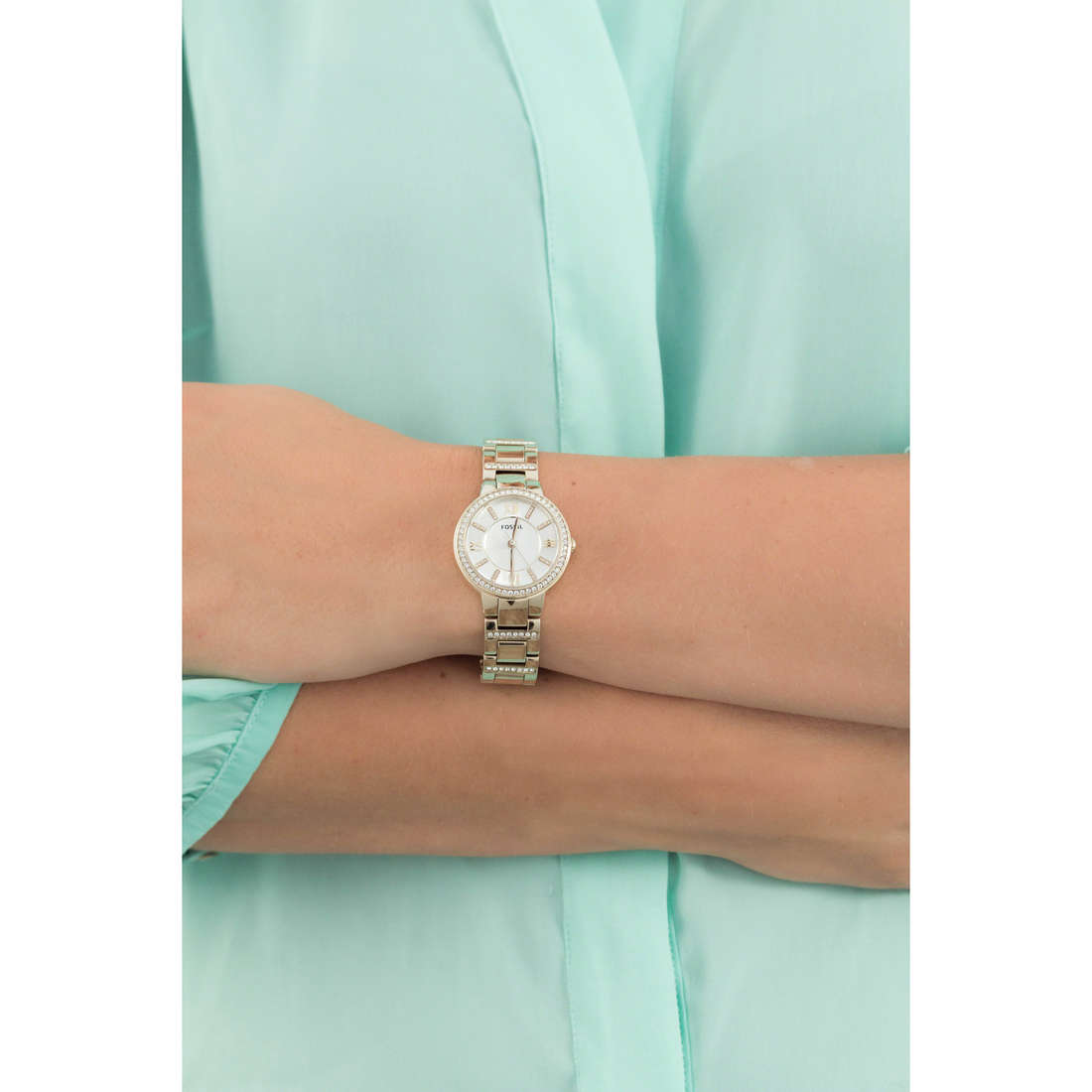 Fossil only time Virginia woman ES3283 indosso