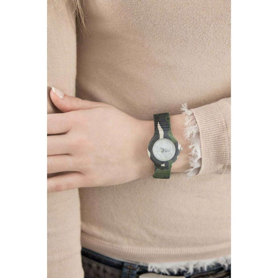 Hip Hop only time Camouflage woman HWU0366 indosso