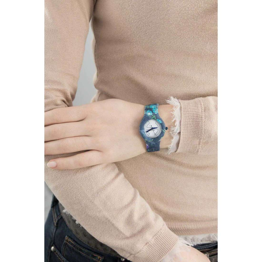 Hip Hop only time Jeans woman HWU0406 indosso