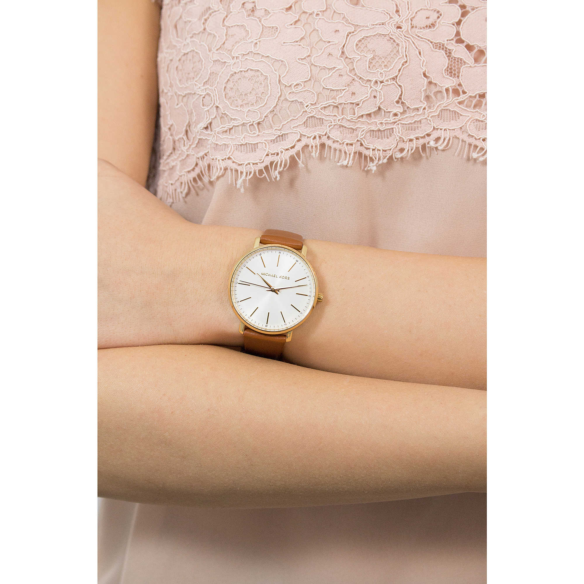 874a324e8 Michael Kors only time Pyper woman MK2740 photo wearing. zoom. sale watches  ...