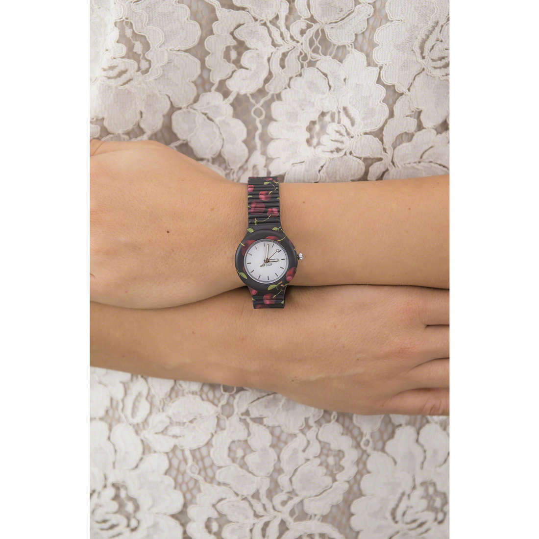 Hip Hop watch bands Fruit woman HWU0670 indosso