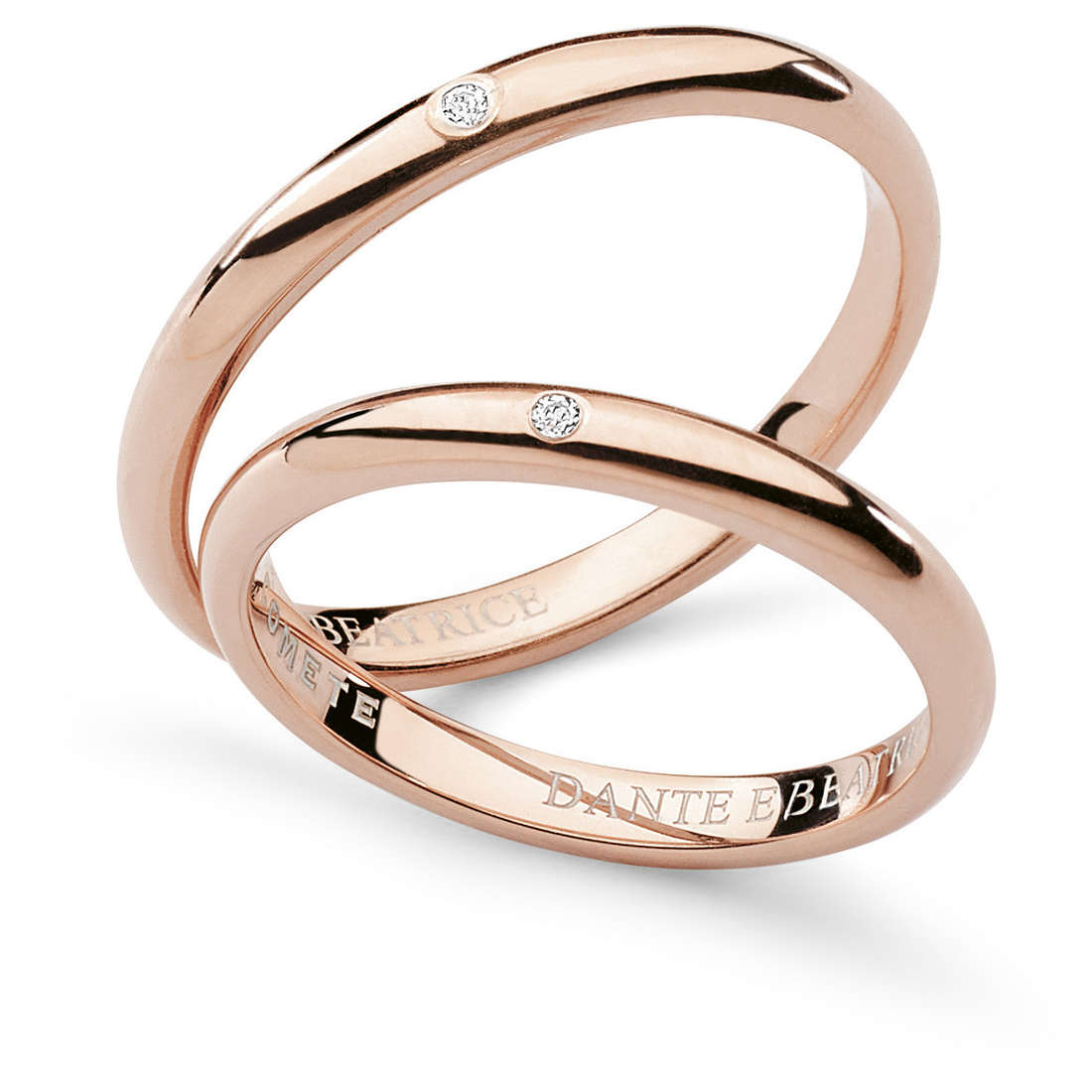 alliance femme bijoux Comete Dante e Beatrice ANB 1861R M20
