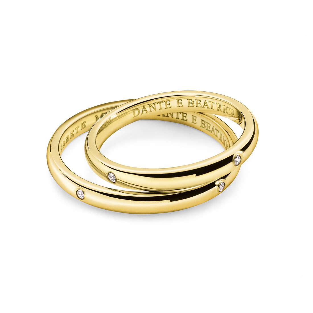 alliance femme bijoux Comete Dante e Beatrice ANB 1862G M20