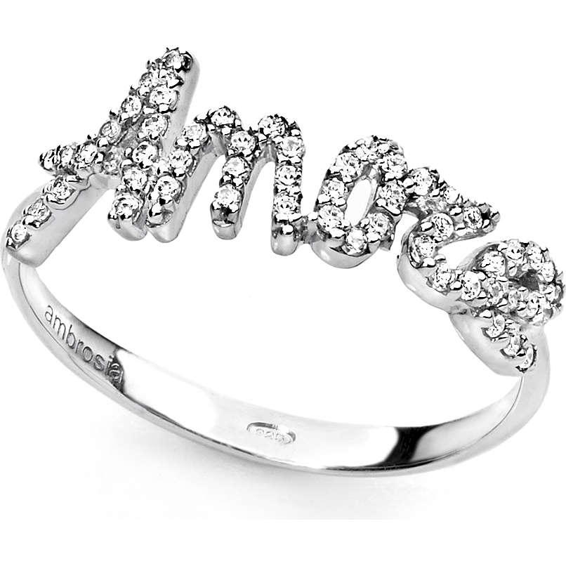 anello donna gioielli Ambrosia AAZ 019