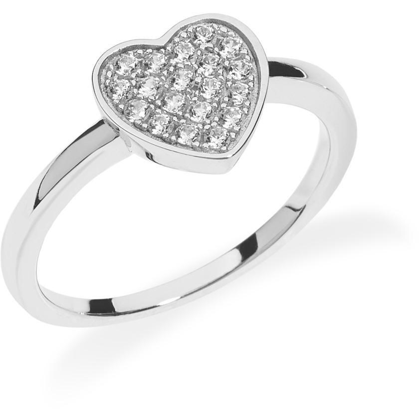 anello donna gioielli Ambrosia Glam Love AAA 032 M