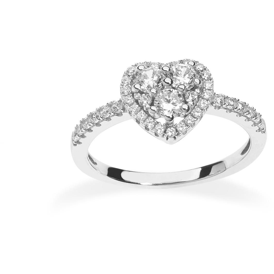 anello donna gioielli Ambrosia Glam Love AAA 033 M
