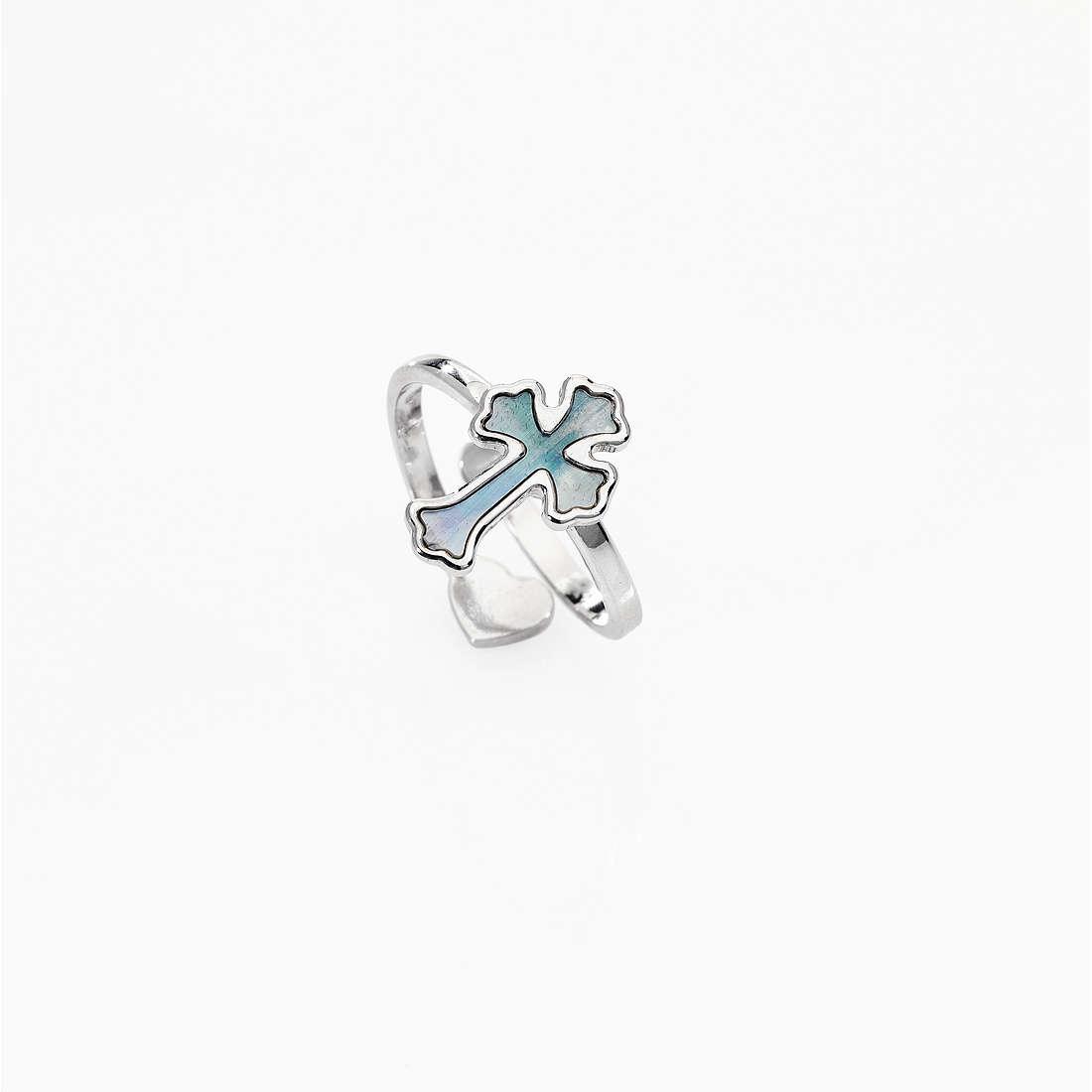 anello donna gioielli Amen Croce ABMPG1