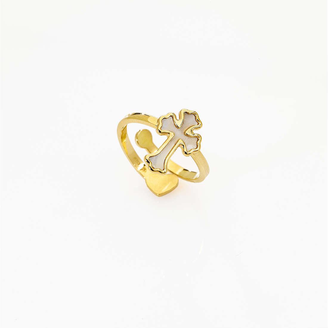 anello donna gioielli Amen Croce AGMPB2