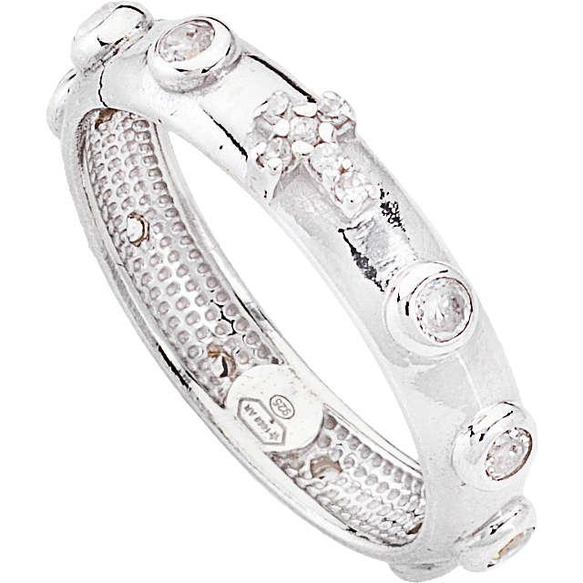 anello donna gioielli Amen Rosario AROBB-14