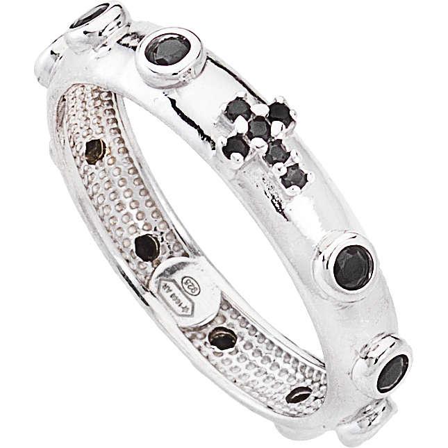 anello donna gioielli Amen Rosario AROBN-20