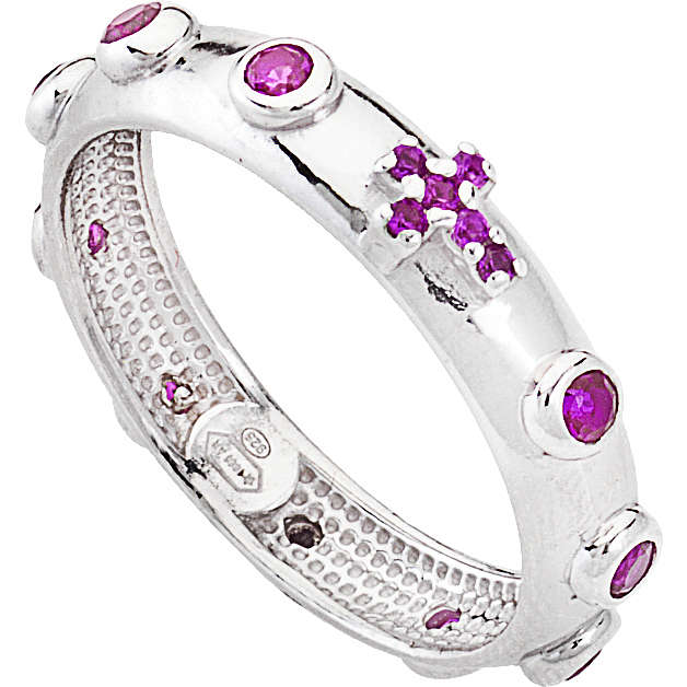 anello donna gioielli Amen Rosario AROBR-20