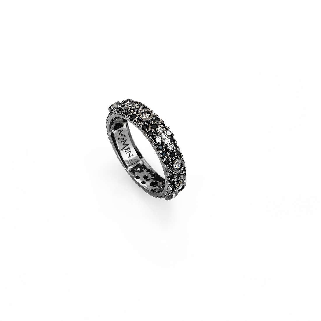 66209faadfaac9 anello donna gioielli Amen Rosario AROZNB-14 anelli Amen