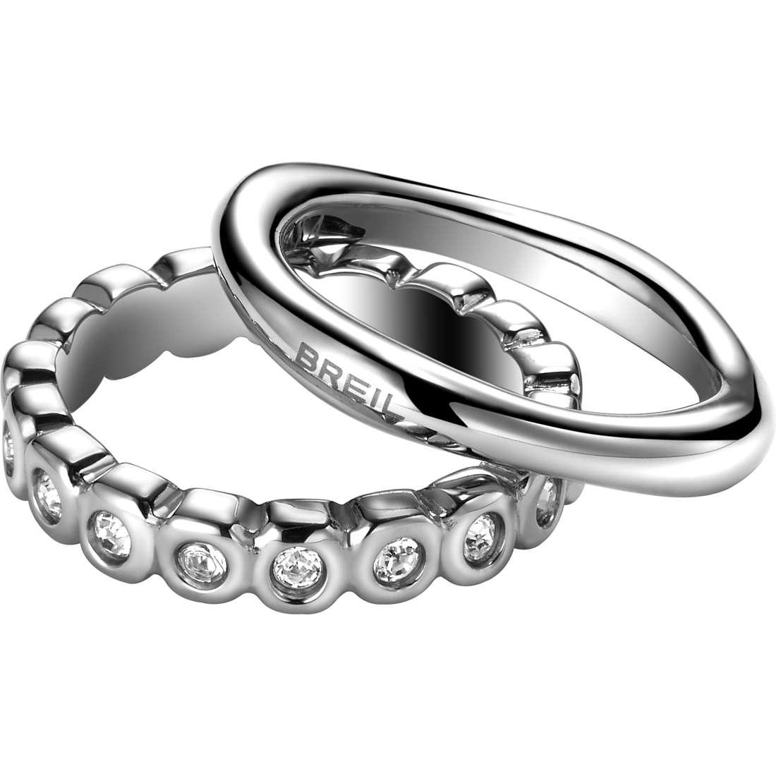 anello donna gioielli Breil Rolling Diamonts TJ1541
