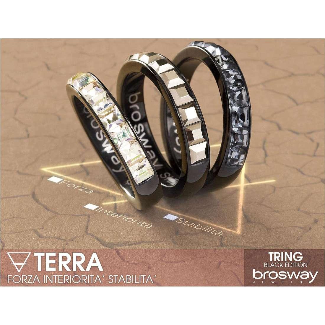 anello donna gioielli Brosway Tring Black Edition BTG12A