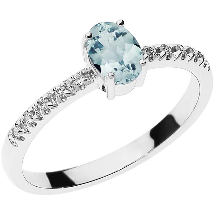anello donna gioielli Comete Acquamarina ANQ 289