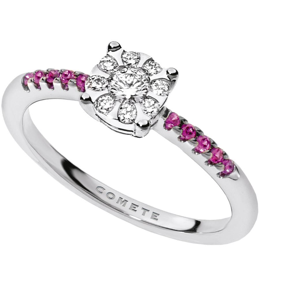 anello donna gioielli Comete Pietre preziose colorate ANB 1736