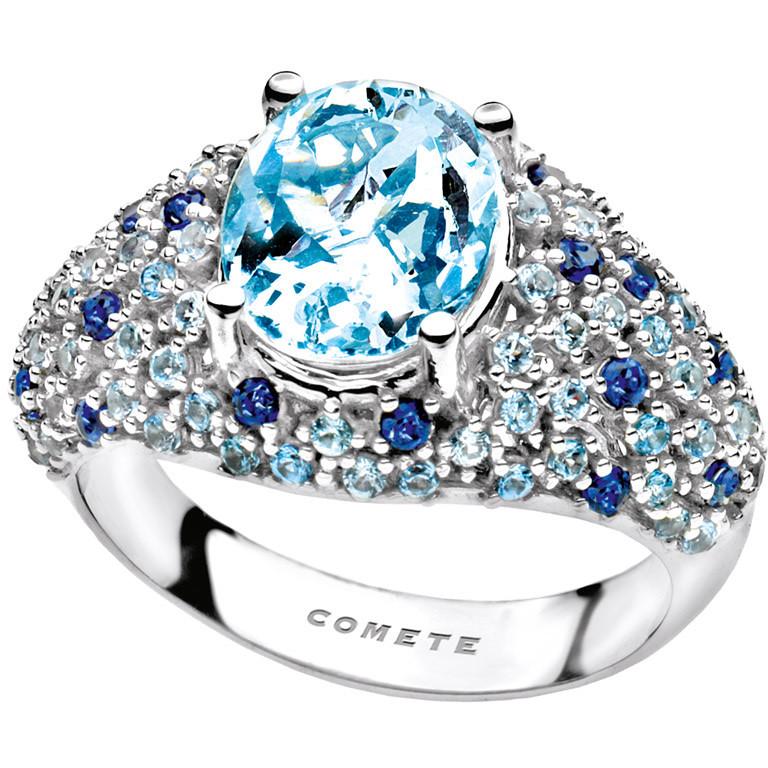 Amato anello donna gioielli Comete Pietre preziose colorate ANQ 277  YO96