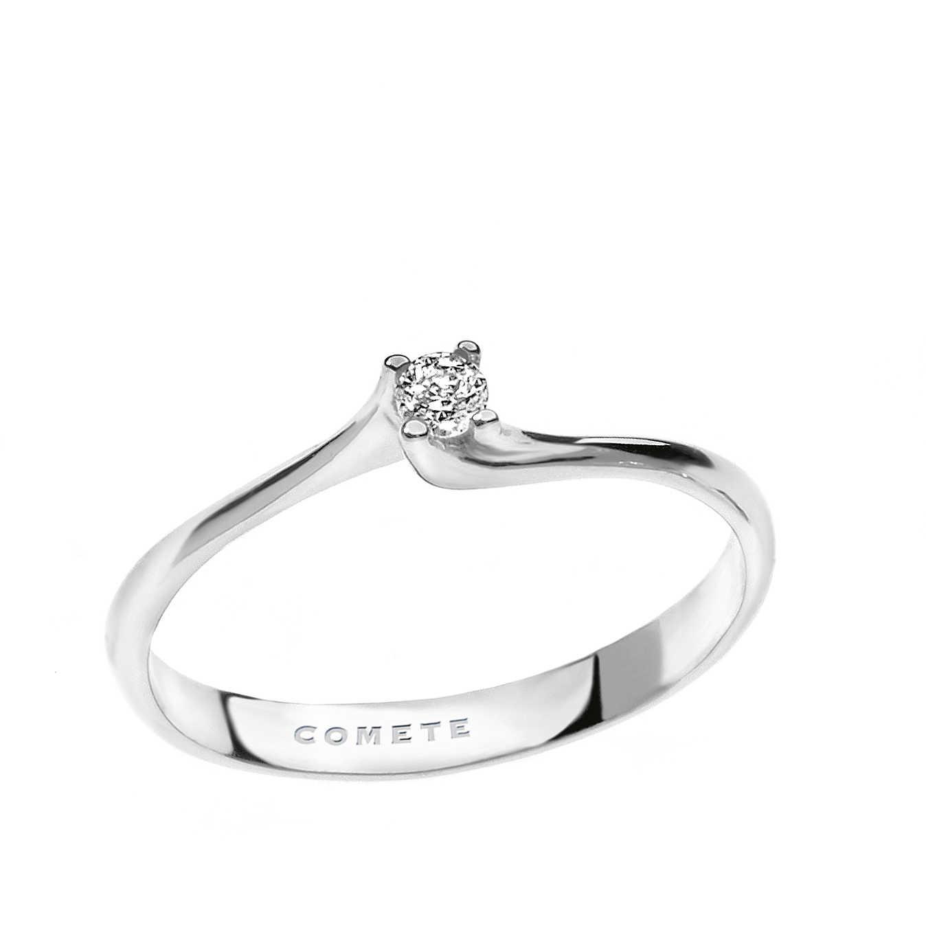 sito affidabile f69fc 832a5 anello donna gioielli Comete Solitario ANB 1682