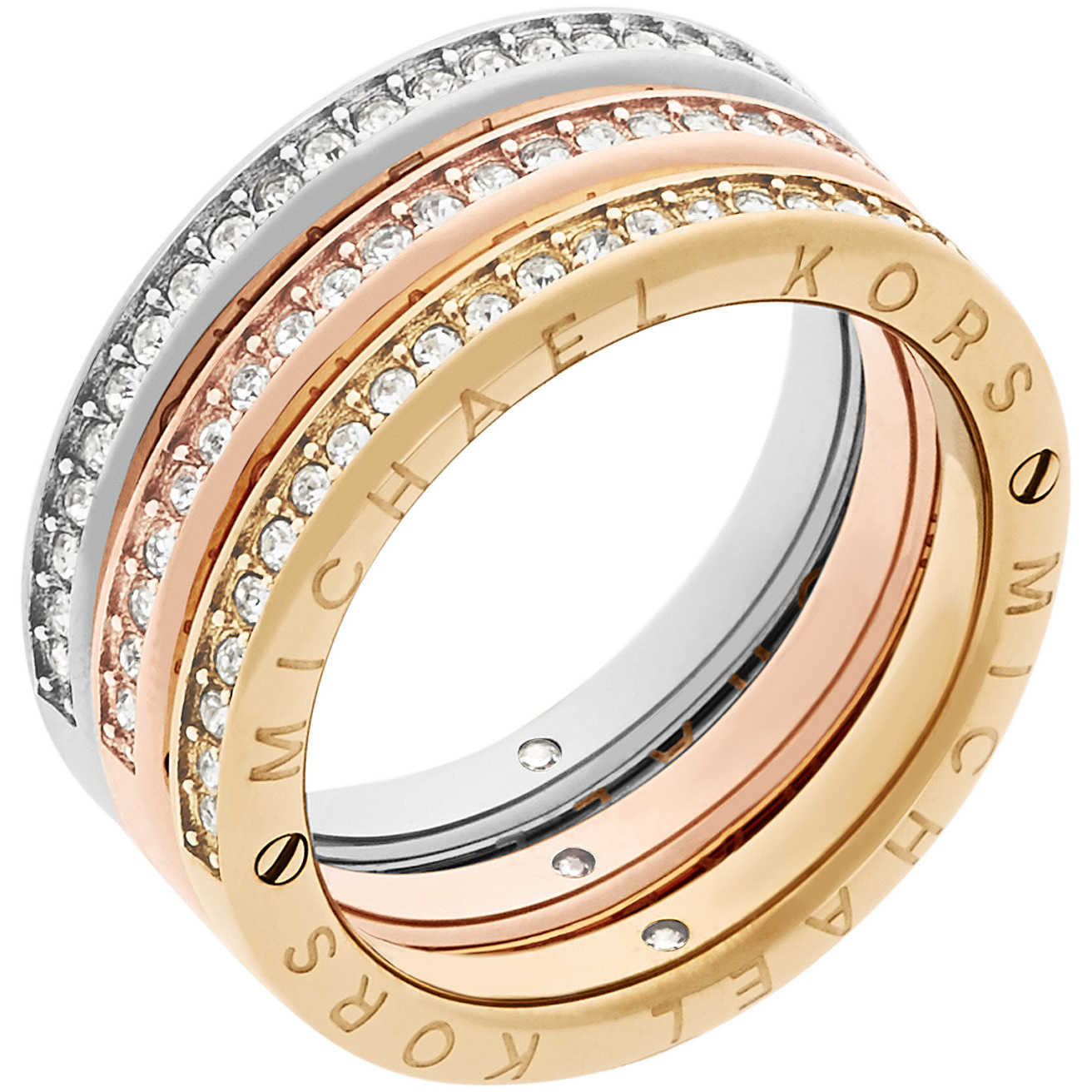 nuovi stili 2d68b 87ac8 anello donna gioielli Michael Kors Iconic MKJ6388998506 ...