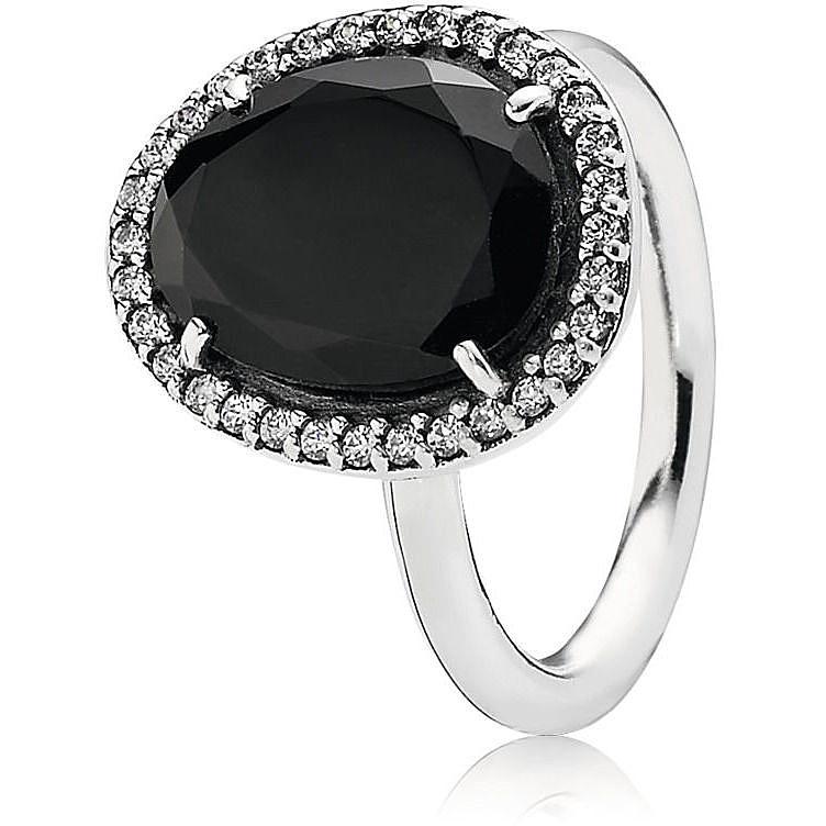 anello pandora nero donna