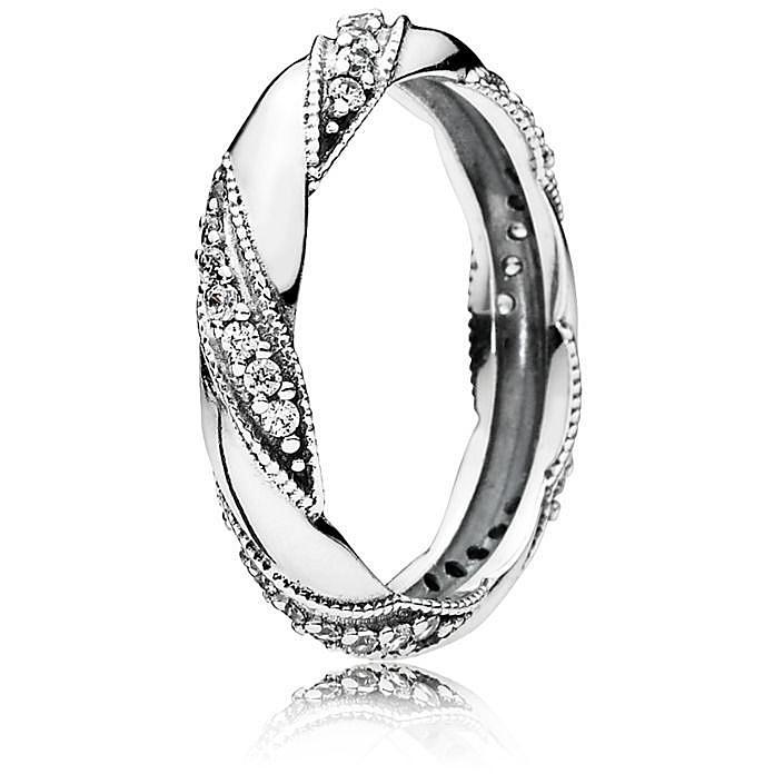 pandora anello nastro d'amore