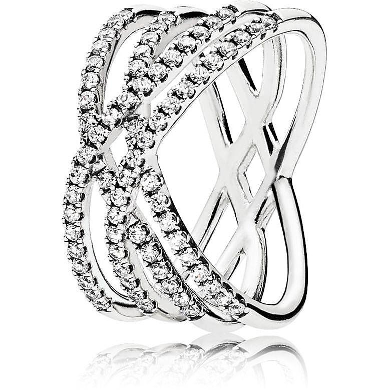 anello donna pandora acciaio