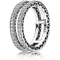 anello donna gioielli Pandora Cuori 196236CZ-60
