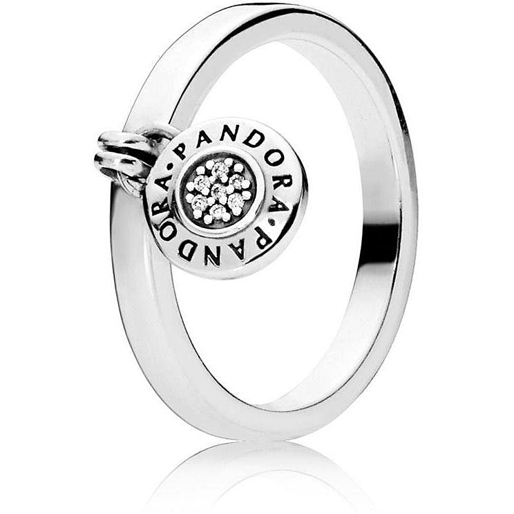 anello con cuore pendente pandora