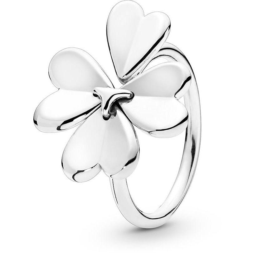 anello con quadrifoglio pandora