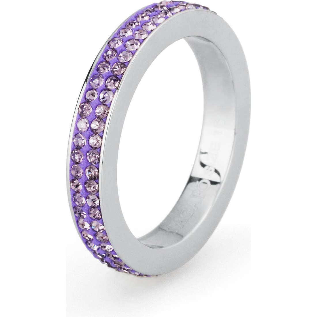 anello donna gioielli Sagapò Crystal ring SCR32E
