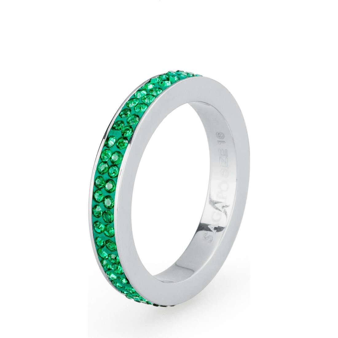 anello donna gioielli Sagapò Crystal ring SCR34B