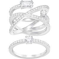 anello donna gioielli Swarovski Gray 5272356