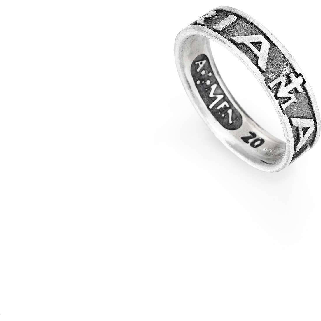 anello unisex gioielli Amen Ave Maria Italiano AVE-30